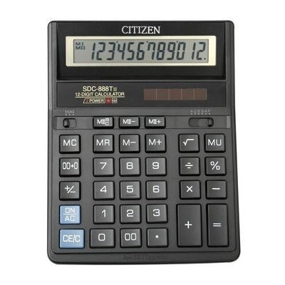 Калькулятор CITIZEN SDC-888 T 12dgt, 203х158мм